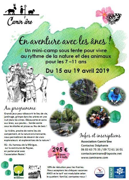 Séjour ados Mérigue 15-19 avril 2019